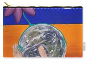 Pondering Creation Hand And Globe Carry-all Pouch