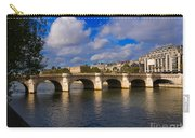 Pont Neuf Over The Seine River Paris Carry-all Pouch