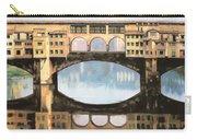 Ponte Vecchio A Firenze Carry-all Pouch by Guido Borelli