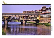 Ponte Vecchio Bridge - Florence Carry-all Pouch by Jon Berghoff