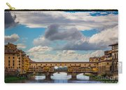 Ponte Vecchio Clouds Carry-all Pouch by Inge Johnsson