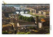 Ponte Vecchio Late Afternoon Carry-all Pouch by Jon Berghoff