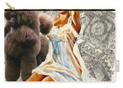 Poodle Art - Una Parisienne Movie Poster Carry-all Pouch