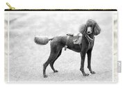 Poodle Jockey Triptych Carry-all Pouch