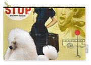 Poodle Standard Art - Bus Stop Movie Poster Carry-all Pouch