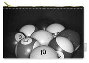 Pool Balls In Black And White Carry-all Pouch