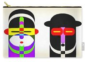Pop Art People Row White Background Carry-all Pouch