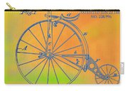 Pop Art Velocipede Patent Carry-all Pouch