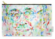 Pope Francis Watercolor Portrait Carry-all Pouch