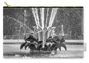 Popp Fountain In City Park Bw Carry-all Pouch