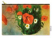 Poppies And Daisies Carry-all Pouch by Odilon Redon