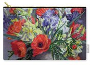 Poppies And Irises Carry-all Pouch