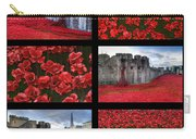 Poppies At The Tower Collage Carry-all Pouch