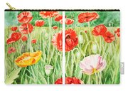 Poppies Collage I Carry-all Pouch