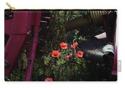 Poppies Growing Amongst Farm Machinery In A Farmyard Near Pocklington Yorkshire Wolds East Yorkshire Carry-all Pouch