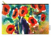 Poppies In A Vase Carry-all Pouch