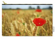 Poppies In Grain Field Carry-all Pouch by Elena Elisseeva