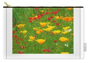 Poppies Of Tuscany Poster Carry-all Pouch