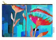 Poppies On Blue 1 Carry-all Pouch
