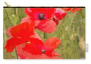 Poppies Vi Carry-all Pouch