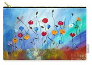 Poppy And Dragonfly Carry-all Pouch