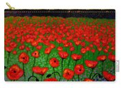 Poppy Carpet  Carry-all Pouch by John  Nolan