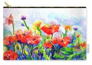 Poppy Fields Carry-all Pouch