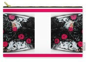 Poppy Jasper Stone Painting With Borders 7 Carry-all Pouch