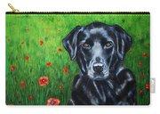 Poppy - Labrador Dog In Poppy Flower Field Carry-all Pouch