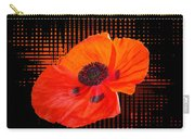 Poppy Passion Square Carry-all Pouch