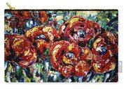 Poppy Red Flowers Carry-all Pouch
