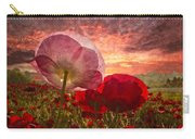 Poppy Sunrise Carry-all Pouch by Debra and Dave Vanderlaan