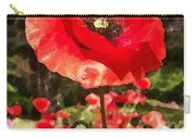 Poppy Watercolor Effect Carry-all Pouch