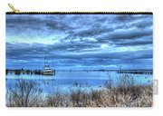 Poquoson Yacht On Stormy Morning Carry-all Pouch