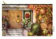 Porch - Cranford Nj - Simply Pink Carry-all Pouch by Mike Savad