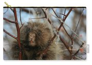 Porcupine And Berries Carry-all Pouch