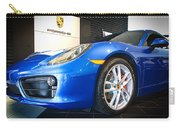 Porsche Cayman S In Sapphire Blue Carry-all Pouch