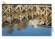 Port Clyde Maine Lobster Traps Reflecting In Water Carry-all Pouch