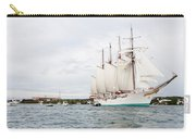 Juan Sebastian De Elcano Famous Tall Ship Of Spanish Navy Visits Port Mahon In Front Of Bloody Islan Carry-all Pouch