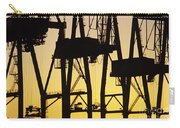 Port Of Seattle Cranes Silhouetted Carry-all Pouch