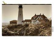Portland Head Lighthouse Carry-all Pouch by Joann Vitali