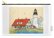 Portland Head Lighthouse Me Nautical Chart Map Art Carry-all Pouch