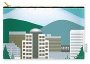 Portland Oregon Vertical Skyline Carry-all Pouch