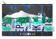 Portland Oregon Skyline License Plate Art Carry-all Pouch by Design Turnpike