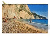 Porto Katsiki Beach In Lefkada Island Carry-all Pouch by George Atsametakis