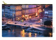 Porto Old Town In Portugal At Dusk Carry-all Pouch