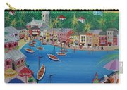 Portofino, Italy, 2012 Acrylic On Canvas Carry-all Pouch