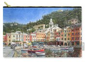 Portofino Italy Carry-all Pouch by Mike Rabe