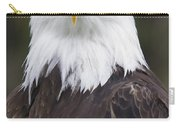 Portrait Of A Bald Eagle In Gaspesie Carry-all Pouch