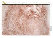 Portrait Of A Bearded Man Carry-all Pouch by Leonardo da Vinci